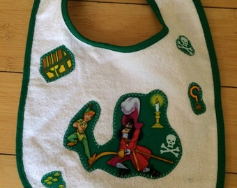 Peter Pan inspired Bib  (not a licensed product)