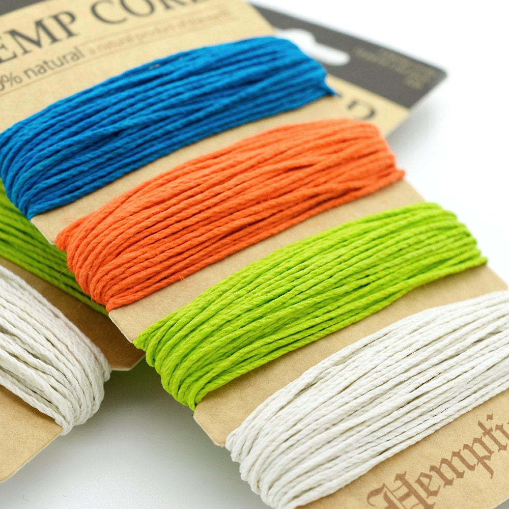 Colored Hemp Twine 20lb Hemp 1mm Hemp Crafters by HempBeadery