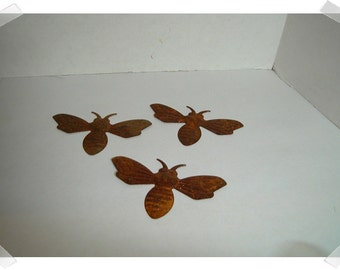 Rusty Metal Bees/Set of 3/Craft Supplies*