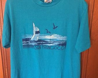 San Francisco Bay t-shirt with sailboat large