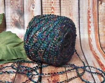 Undersea Yarn, Rich Deep Jeweltones, Purple, Emerald, Teal, Gold & More, Knitting and Crochet Yarn,  BIN 21