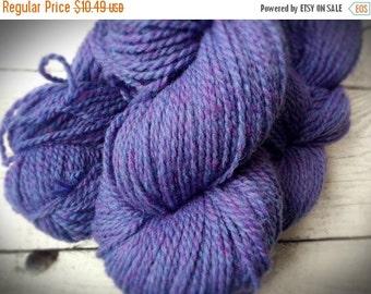Yarn Sale Purple wool for knitting yarn - worsted weight - wool yarn - Peace Fleece - periwinkle - purple - yarn shop