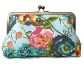 Clutch purse, Garden Rocket,  Christmas, bridesmaid, wedding, birthday, summer clutch, bridal party gift