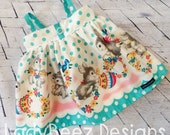 Vintage Mod Bunny Dress: made to order, 6/12m to 8 girls
