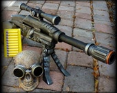 Steampunk ZOMBIE Pirate Gun  and Goggles HALO soft dart Victorian Fall out Monster Movie prop