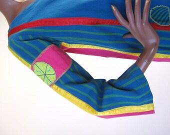 Boho 60s Long Tunic Vintage Patchwork Caftan Hippie M