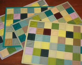 Quilted Patchwork Placemats (Set of 4)