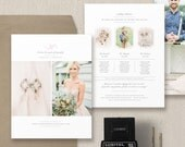 Wedding Photographer Price List - Events Planner Pricing Guide - Photographer Pricing Guide Template - Wedding Package Pricing - m0257