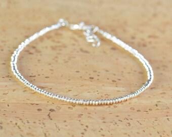 Sterling silver hoops beads  bracelet
