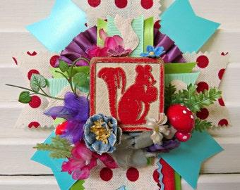 Vintage Squirrel Spring Prize Ribbon Decoration FUN