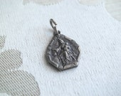 Unusual Small Vintage Religious Our Lady of Mt Carmel & Sacred Heart Scapular Medal