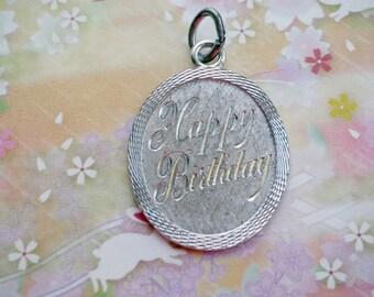Vintage LaMode Sterling HAPPY BIRTHDAY Charm