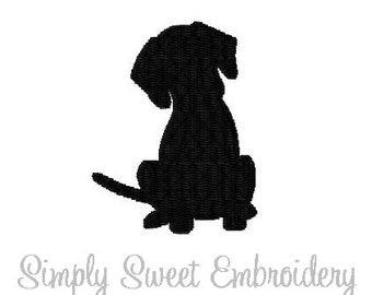 Puppy Silhouette Machine Embroidery Mini Design