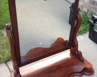 Antique Dresser Top Tilting Cherry Mirror