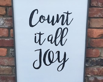 Count It All Joy Handmade Wood Sign