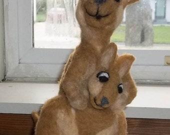 Adorable Kangaroo with baby