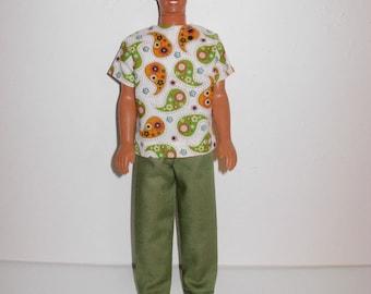 Handmade barbie clothes - Ken nice clothes