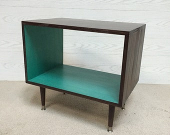 FREE SHIPPING The Backless Wee Record Player Stand Mid Century Modern Record Cabinet TV Stand Vinyl Storage