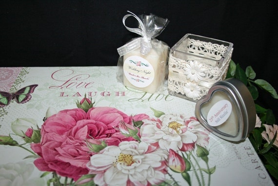 Candle Wedding Gift: Bridal Shower Gift Candle Poem Wedding Gift Bridal
