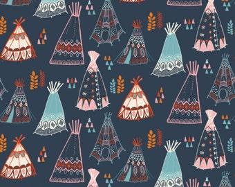 Birch Fabrics - Wild Land Collection - Teepees in Dusk Organic