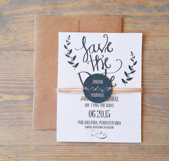 calligraphy save the date, rustic save the date, save the date, simple save the date, kraft save the date, simple save the date