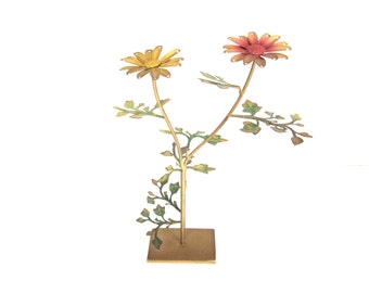 Vintage Jewelry Tree, Flower Bouquet, Earring and Necklace Holder
