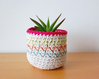 Tropical - Little Handmade Plant Pot