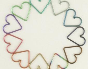 1 - 18 gauge Niobium Heart Piercing 18mm - Hypoallergenic - You Pick Color - Cartilage Piercing
