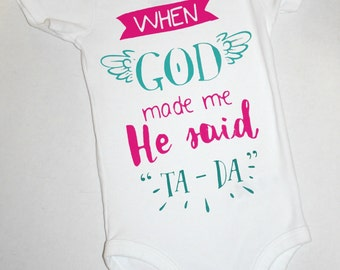 new baby gift girl baby girls take home outfit, coming home outfit, baby shower gift girls twin outfit God ta da new baby outfit