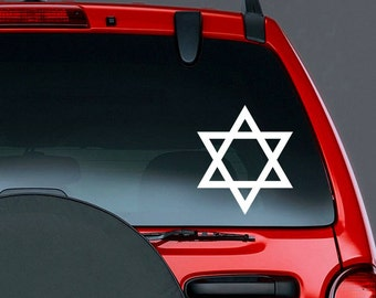 Jewish Star of David Vinyl CAR DECAL Judaism Sticker