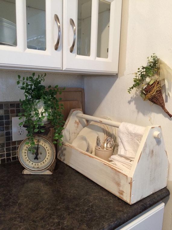 It S Here Vintage Chippy Wood Garden Kitchen Tote Box