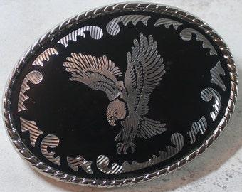 Men's Black Eagle Belt Buckle