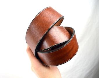 Vintage Tony Lama Brown Basic Leather Belt  - Size 38