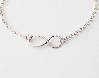 Sterling Silver Eternity Charm Bracelet