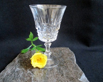 Vintage lead crystal stemmed cordial glass whiskey glass shot glass liqueur glass snort glass sherry glass