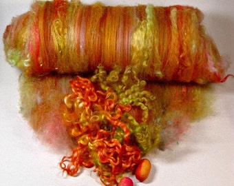 Caliente Wild Card Bling Batt for spinning and felting (4.7 ounces)