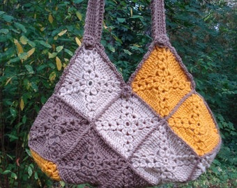 Harmonizing Motifs Bag - PA-221 - Crochet Pattern PDF