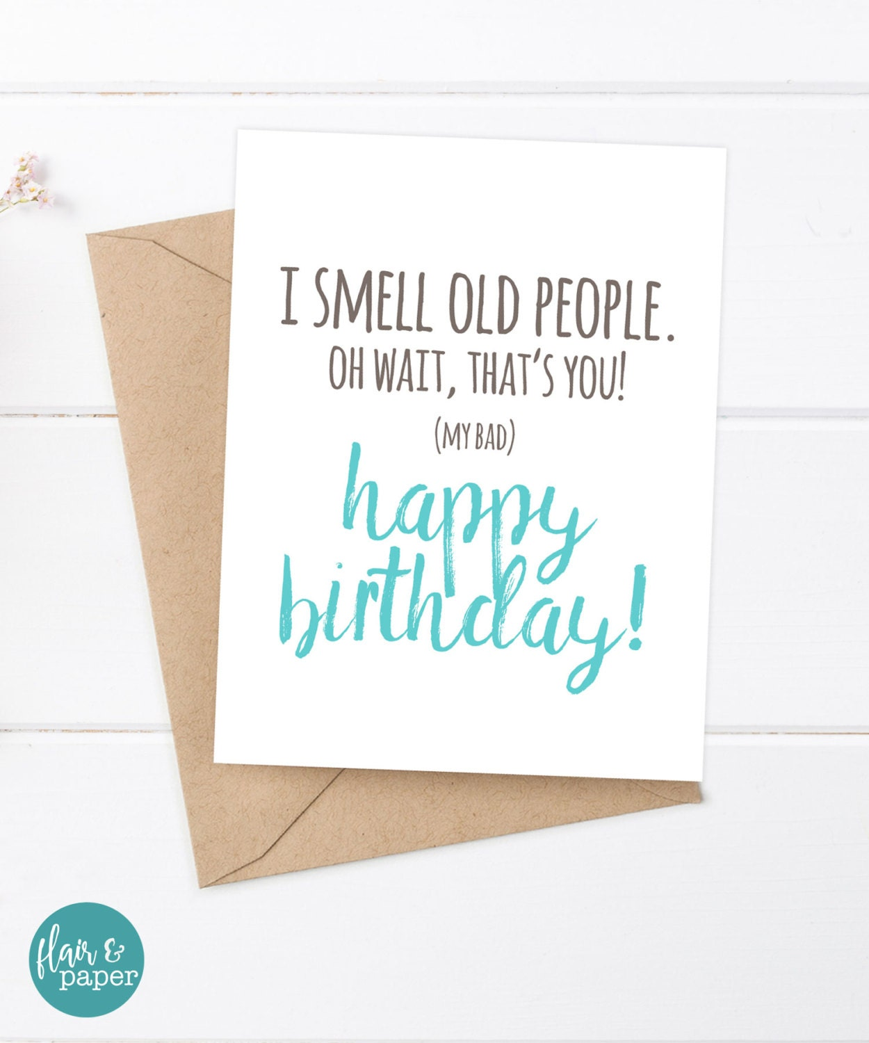 Funny Birthday Card Boyfriend Birthday Friend Birthday – Funny Birthday Cards for Old People