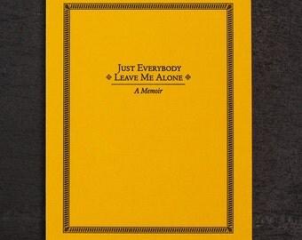 alone. letterpress card. #022