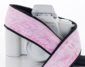 Camera Strap, Pink Ribbon, Breast Cancer Awareness, dSLR, SLR, Canon, Nikon, Mirrorless, Photography, 181 w