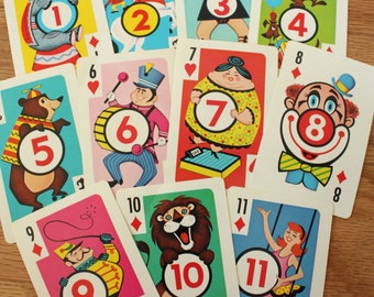 Crazy Eights Card Game- partial set