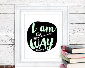 I Am Arrow Christian Art - 8x10 Printable