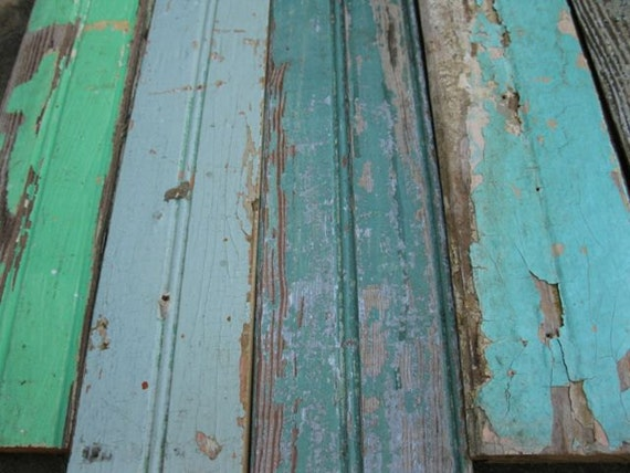 Lot Of Vintage Salvage Bead Board Recycled Wood Reclaimed