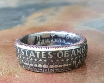 Kennedy Half Dollar Coin Ring - 1982 US Half Dollar Coin Ring - Size: 10 1/4