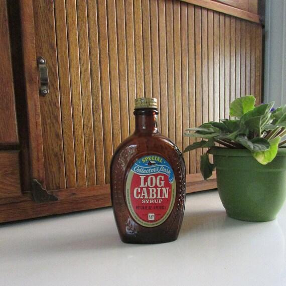 Benjamin franklin log cabin syrup bottle bicentennial