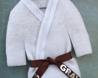 BROWN Belt - Martial Arts Uniform - pErSoNaLiZeD -  Karate Taekwondo Christmas Ornament