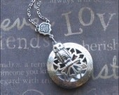 Owl Scent Locket, Locket Necklace, Aromatherapy Jewelry, Woodland Owl Necklace, Silver Scent Locket, Engraved Locket, Wedding Gift, OWL HOOT
