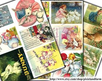 Easter Bunny Vintage Printable Digital Download