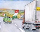 Custom Original Watercolor Painting, World Cup 1982 Italy, FOR KAREN