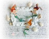 Mermaid Die Cut Embellishments  for Scrapbooking, Cardmaking, Mixed Media, Altered Art